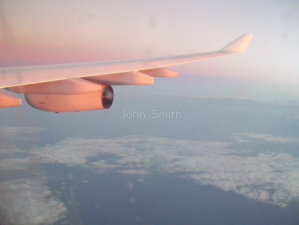 """ Flying home."" by John  Smith"