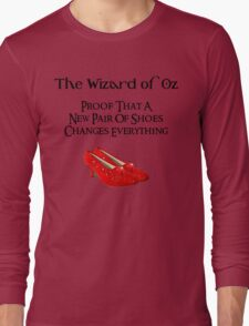 Wizard of Oz Dorothy's Shoes Long Sleeve T-Shirt