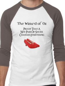 Wizard of Oz Dorothy's Shoes Men's Baseball ¾ T-Shirt