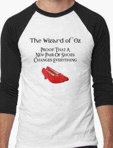 Wizard of Oz Dorothy's Shoes Men's Baseball ¾ T-Shirt