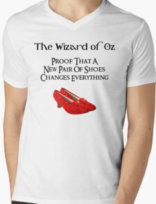 Wizard of Oz Dorothy's Shoes Mens V-Neck T-Shirt