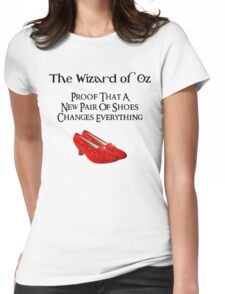 Wizard of Oz Dorothy's Shoes Womens Fitted T-Shirt