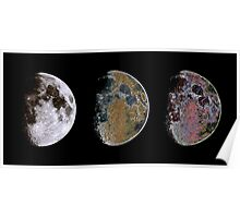 3 Phases of The Moon Poster