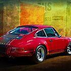 Red Porsche 911 Rear by Stuart Row