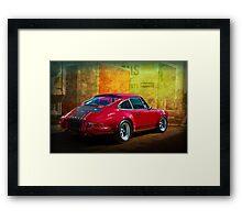 Red Porsche 911 Rear Framed Print
