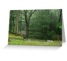 Smoky Mountain Rain Greeting Card