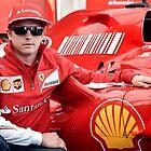 Kimi Raikkonen Ferrari F1 Driver by M-Pics