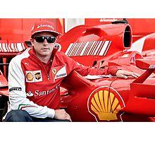 Kimi Raikkonen Ferrari F1 Driver Photographic Print