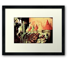 Moroccan Spice Shop Framed Print
