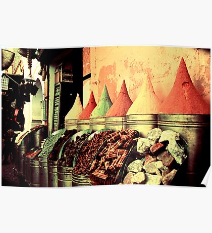 Moroccan Spice Shop Poster