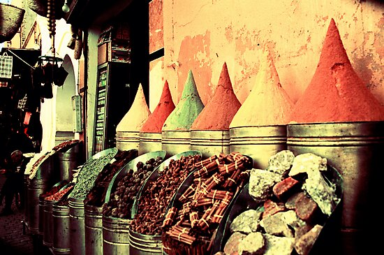 Moroccan Spice Shop by Rebecca Wachtel