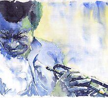 Jazz Miles Davis 7 Blue by Yuriy Shevchuk