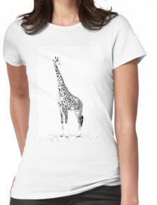 Giraffe Masai Mara Kenya Womens Fitted T-Shirt
