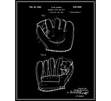 Baseball Glove Patent - Black Photographic Print