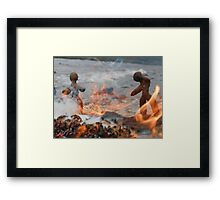 Clay People- Flames Framed Print