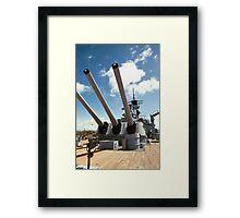 Mighty Mo's Big Guns Framed Print