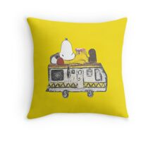Snoopy Breaking Bad Throw Pillow