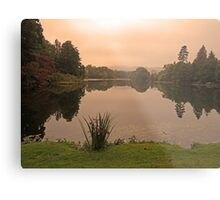 Peach Sky at Great Witley Metal Print