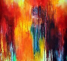 Rainbow Abstract Colorful Art by ArtMK