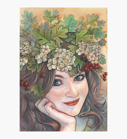 The Hawthorn Queen. Photographic Print