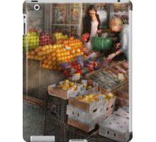 Storefront - Hoboken, NJ - Picking out fresh fruit iPad Case/Skin