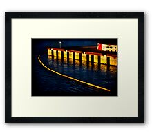 Dockland 1 Ortonized Framed Print