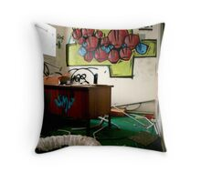 Abandoned Office Throw Pillow