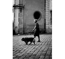 Woman with a Dog Photographic Print