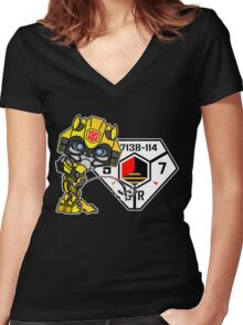 Bumblebee Peeing - Sector 7 v2 Women's Fitted V-Neck T-Shirt