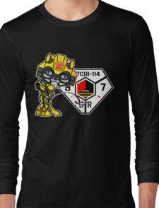 Bumblebee Peeing - Sector 7 v2 Long Sleeve T-Shirt