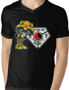 Bumblebee Peeing - Sector 7 v2 Mens V-Neck T-Shirt