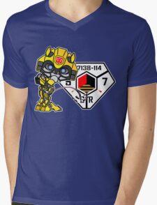 Bumblebee Peeing - Sector 7 v2 Mens V-Neck T-Shirt