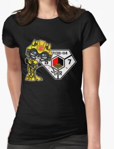 Bumblebee Peeing - Sector 7 v2 Womens Fitted T-Shirt