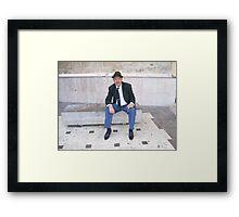 """"""" Manuel, the gentleman """" Framed Print"""