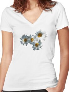 Daisies in Dappled Sunshine Women's Fitted V-Neck T-Shirt