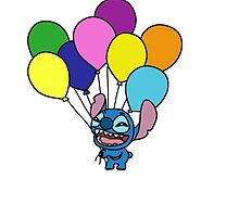 Stitch with balloons by LikeYou