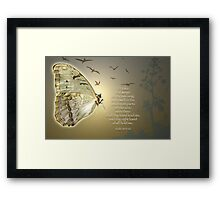 Wings of the Morning Framed Print