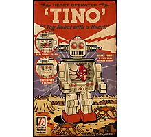Tino the Heart Operated Toy Robot (Vintage) Photographic Print