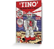Tino the Heart Operated Toy Robot (Classic) Greeting Card