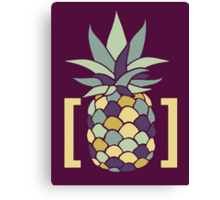 Reddit r/trees Pineapple in Brackets Design Canvas Print