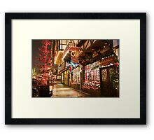 Holiday Window Shopping Framed Print