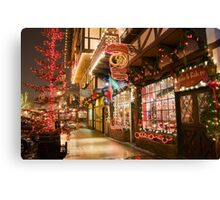 Holiday Window Shopping Canvas Print