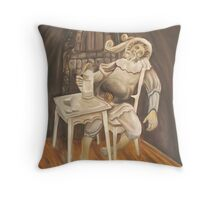 The Knight of the road Throw Pillow