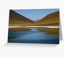 Lake in Atacama Desert Greeting Card