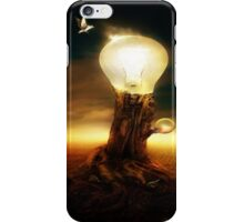 Abstract Tree In Light Bulb iPhone Case/Skin