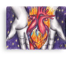 My Heart Burns for You Canvas Print