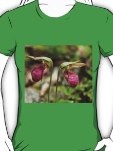 Pink Lady Slipper Orchids T-Shirt