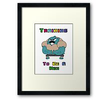 Training To Be A Men  Framed Print