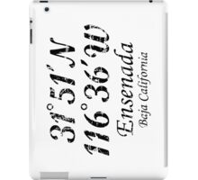 Ensenada Coordinates Vintage Black iPad Case/Skin