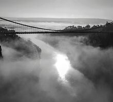 Clifton Suspension Bridge, Bristol B&W by Carolyn Eaton